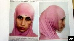 """Polisi Rusia menyebarkan foto janda seorang militan yang diketahui bernama Ruzanna Ibragimova atau """"Salima"""" (foto: dok)."""
