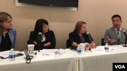 全球台灣研究所以新南向政策為主題的座談會(美國之音鍾辰芳拍攝)