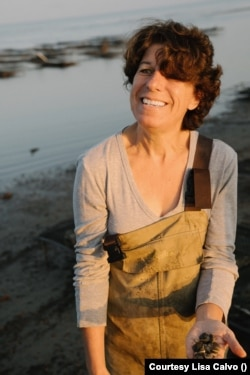 Lisa Calvo grows oysters in southern New Jersey.