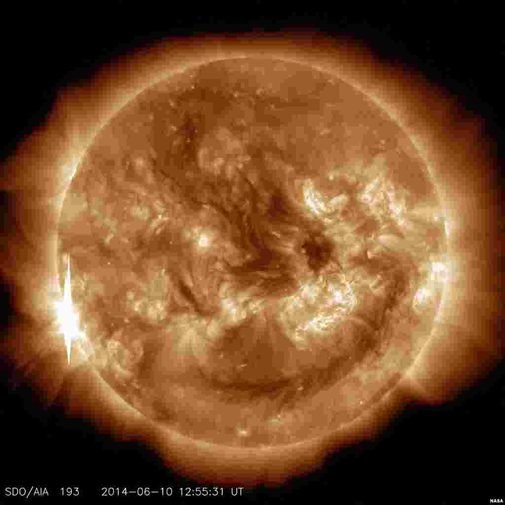 The sun releases a second X-class flare, peaking at 8:52 a.m. EDT. This is classified as an X1.5 flare. Solar flares are powerful bursts of radiation. Harmful radiation from a flare cannot pass through Earth's atmosphere to physically affect humans on the ground.