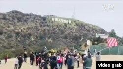 洛杉磯和勇拜年大行動,為香港加油。(視頻截圖)