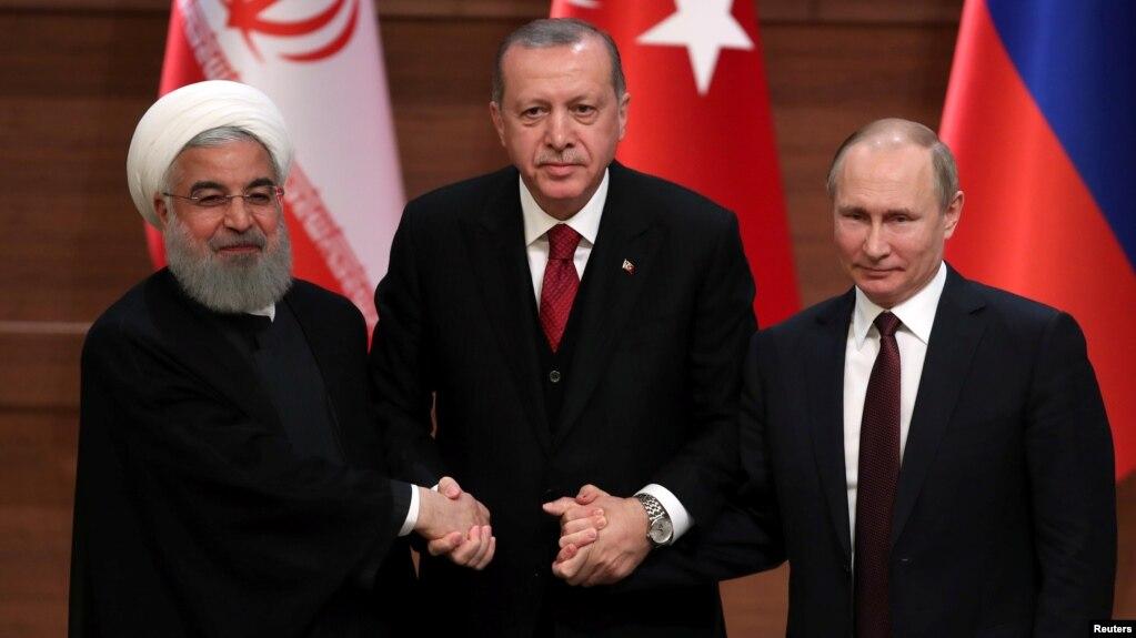 Image result for Recep Tayyip Erdogan Vladimir Putin Hassan Rouhani