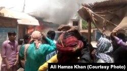 میرپور خاص کے ایک مضافاتی علاقے میں توہین مذہب کے شبہے میں املاک نذر آتش، 27 مئی 2019
