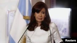 阿根廷總統克里斯蒂娜•費爾南德斯•德基什內爾.(資料圖片)