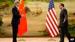 Ngoại trưởng Hoa Kỳ và Trung Quốc trong một cuộc gặp ở Bắc Kinh hồi tháng Một năm nay.