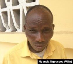 Gaspard Mienantima, président du CUDHOC déplore la non assistance du gouvernement, au Congo-Brazzaville, le 7 février 2018. (VOA/Ngouela Ngoussou)