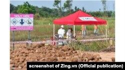 Mỹ, Việt Nam tiến hành dự án khắc phục hậu quả dioxin ở sân bay Biên Hòa, Đồng Nai, 5/12/2019.