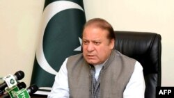 Pakistan's Prime Minister Nawaz Sharif is seen at his office in Islamabad, March 28, 2016. Documents leaked from a Panama-based law firm recently revealed his children own several offshore companies.