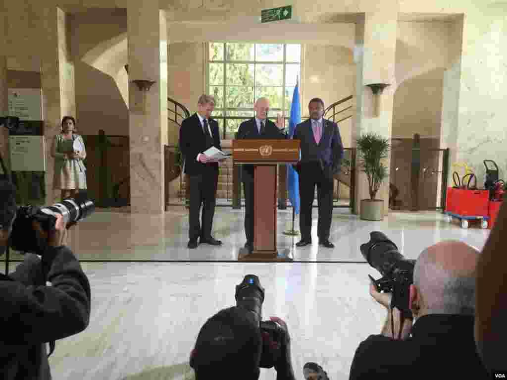 کنفرانس خبری استفان دی میستورا فرستاده ویژه سازمان ملل در امور سوریه