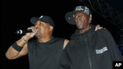 Public Enemy's Chuck-D, left, and Flavor Flav performing in 2007