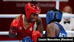 Jogos Olímpicos 2020 - pugilista moçambicana Rady Adosinda Gramane contra Erika Pachito do Equador. 28 de Julho 2021