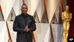 Mahershala Ali arrives at the Oscars on Sunday, Feb. 26, 2017, at the Dolby Theatre in Los Angeles. (Photo by Jordan Strauss/Invision/AP)