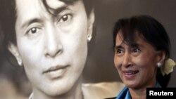 Lãnh tụ đối lập Miến Điện Aung San Suu Kyi tại Trung tâm Hòa bình Nobel ở Oslo, Na Uy, 16/6/2012
