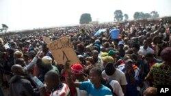 Abanyagihugu barindiye guhabwa infashanyo ku murwa mukuru wa Centrafrique,Bangui