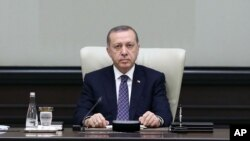 Presiden Recep Tayyip Erdogan di Istana Presiden di Ankara, Turki (Foto: dok).