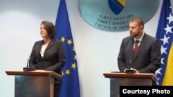 Violeta Bulc, Komesarka EU za transport i Ismir Jusko, Ministar za promet BiH