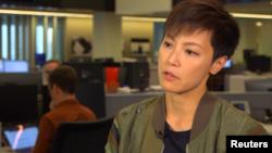 香港歌手、社运人士何韵诗接受路透社专访