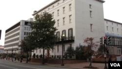 位於華盛頓的美國貿易代表辦公室(美國之音王南拍攝)