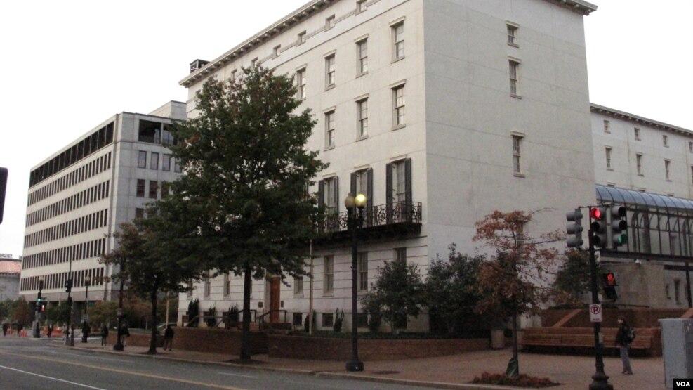 位于华盛顿的美国贸易代表办公室(美国之音王南拍摄)