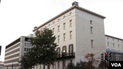 位語華盛頓的美國貿易代表辦公室(美國之音王南拍攝)