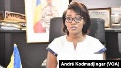 Amina Priscille Longoh, ministre de la femme, de la famille et de la protection de l'enfance, au Tchad, le 26 septembre 2021. (VOA/André Kodmadjingar)