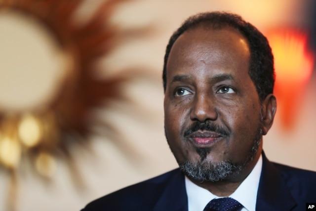 FILE - Somali President Hassan Sheikh Mohamud, Nov. 17, 2015.