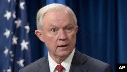 Bộ trưởng Tư pháp Mỹ Jeff Sessions.