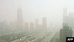 Ô nhiễm không khí ở thủ đô Bắc Kinh, Trung Quốc.