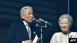 2019年1月2日,日本明仁天皇在皇后美智子的陪伴下在皇宫发表新年致辞。