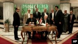 哈马斯和法塔赫的代表在开罗签署和解协议