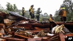 Quang cảnh sau thảm họa đất chuồi ở Sausalito, bang California, ngày 14/2/2019.