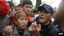 На митинге в Бишкеке потребовали смещения главы службы безопасности