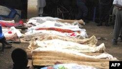Xác của các nạn nhân vụ tấn công chờ được nhận dạng, ngày 19/9/2011
