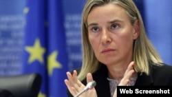 Avropa İttifaqının xarici siyasət şöbəsinin başçısı Federika Mogerini