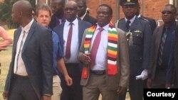 Président Emmerson Mnangagwa chez Morton Jeffrey Water Works.