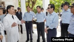 Tổng thống Đài Loan sắp mãn nhiệm Mã Anh Cửu trên đảo Ba Bình.