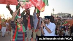 Pawai partai oposisi Pakistan, Tehreek-e-Insaf (PTI) pimpinan Imran Khan di Islamabad (foto: dok).