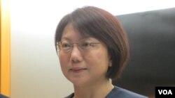 台湾大学社会系教授范云(美国之音张永泰拍摄)