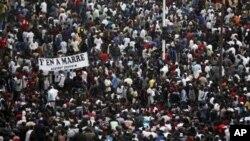 Une vue de la manifestation du 31 janvier à Dakar