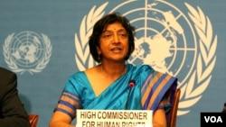 Alta comissària para os direitos humanos Navy Pillay