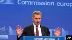 Komisaris anggaran Uni Eropa, Guenther Oettinger (foto: dok).