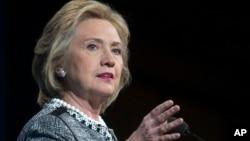 Cựu Ngoại trưởng Hoa Kỳ Hillary Rodham Clinton trong một buổi nói chuyện ở thủ đô Washington, 14/5/14