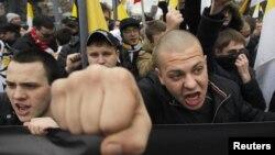 Участники «Русского марша». Москва, Россия. 4 ноября 2012 года
