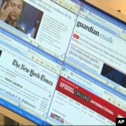 各大傳媒網站轉載維基揭密刊登的文件