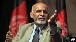 参加阿富汗总统选举决选的候选人加尼