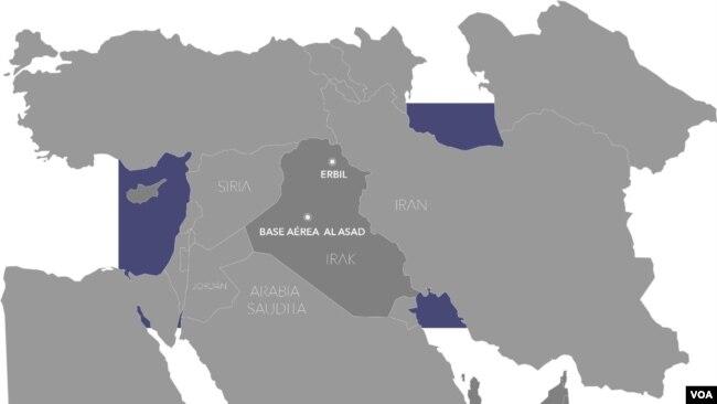Irán ataca dos bases que albergan tropas estadounidenses en Irak.