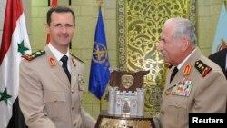 Башар Асад и Камаль Лабвани.