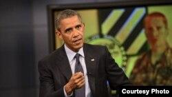 奥巴马总统2015年9月11日在马里兰州米德堡发表讲话(美国国防部/五角大楼)