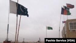 پاکستان اور افغانستان کے درمیان سپن کے مقام پر سرحدی گذرگاہ۔ فائل فوٹو۔