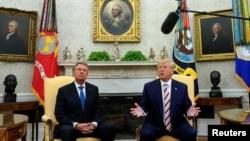 Дональд Трамп и Клаус Йоханнис